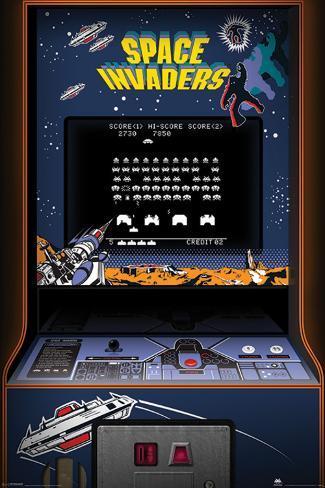La Caccia al tesoro nel videogioco Space inveders, schermata degli anni 80