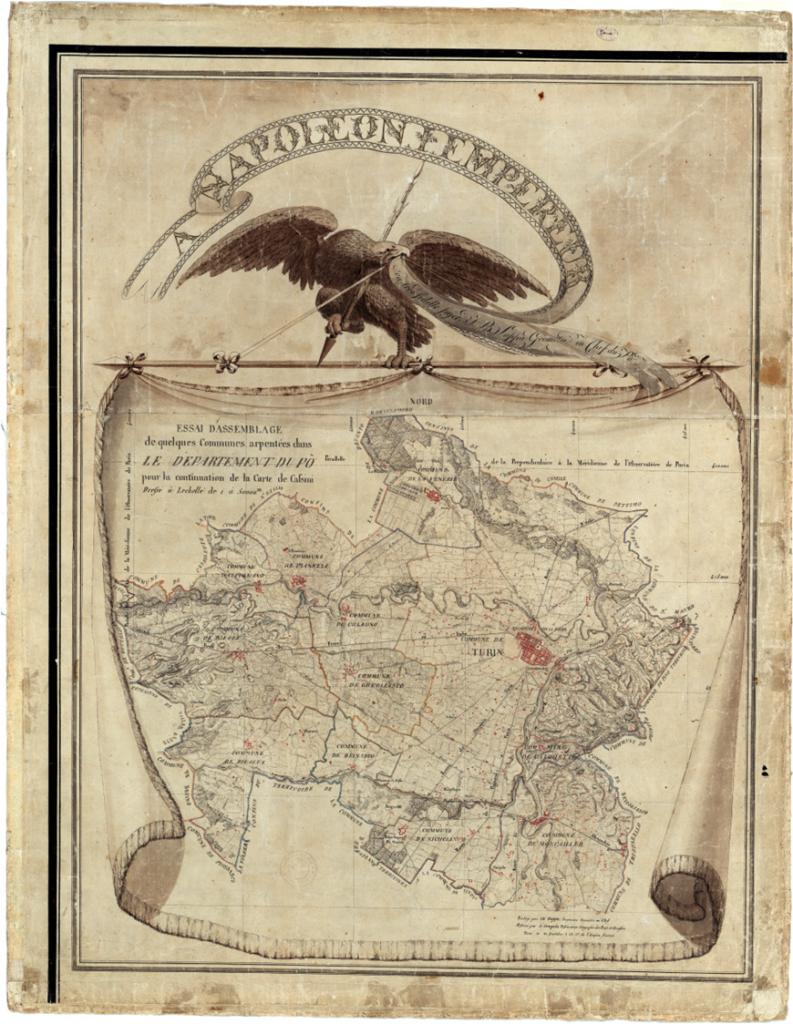 """Mappa Napoleonica del """"Dipartimento del Po"""""""