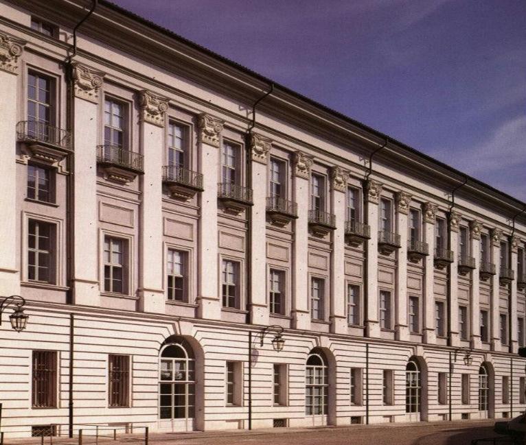 La facciata di Juvarra sede della Sezione Corte dell'Archivio di Stato di Torino che conserva l'archivio dinastico e la documentazione delle Segreterie di Stato