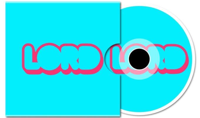 """Il vinile di """"you never know"""" il nuovo singolo dei Lord, copertina azzurra e scritta rossa"""