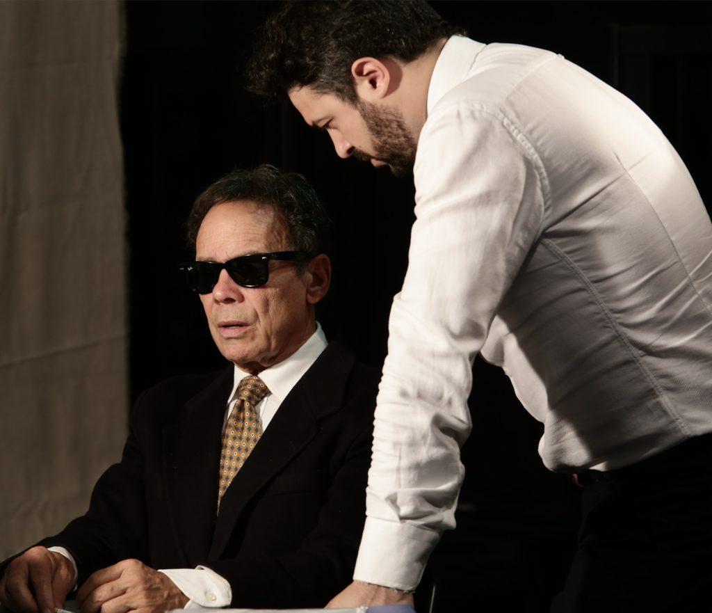 Buscetta, santo o boss: primo piano degli attori impegnati nella rappresentazione
