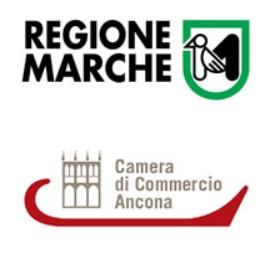 il logo della camera di commercio della regione marche