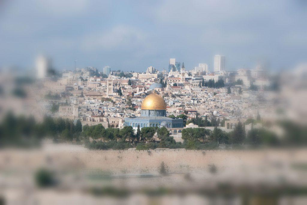 Una veduta della città di Gerusalemme