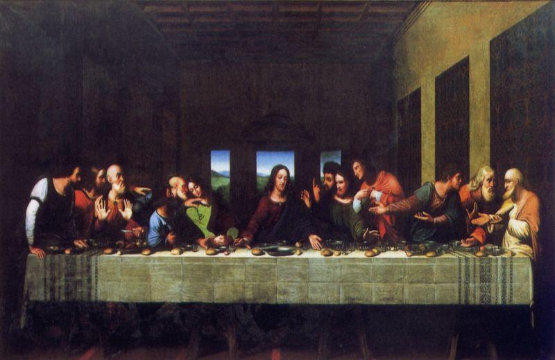 Il dipinto dell última cena oggetto di restauro da parte del Rotary