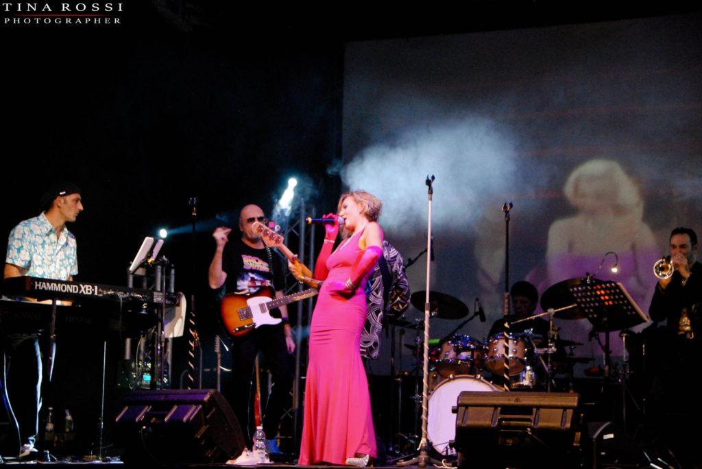 Spundtruck live a Venaria: inquadratura della band on stage