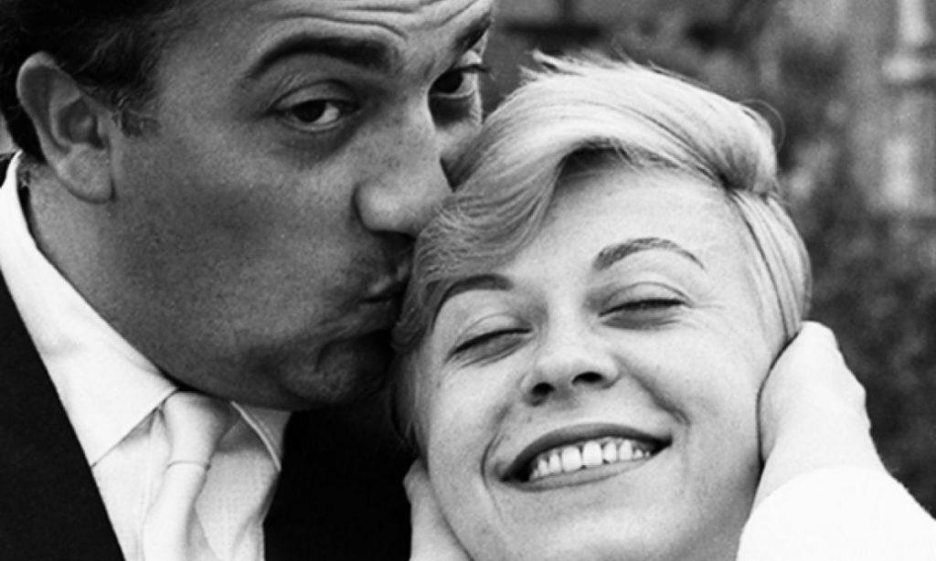 Fellini e Giulietta Masina, i 100 anni - centenario - in una foto in bianco e nero