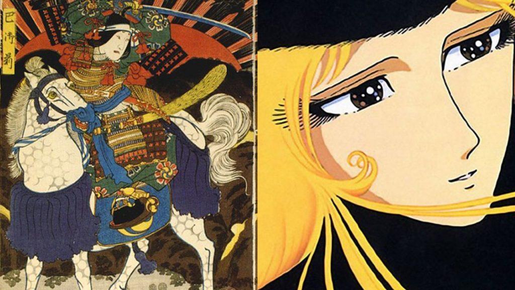Un opera esposta al MAO lady Oscar e donne guerriere