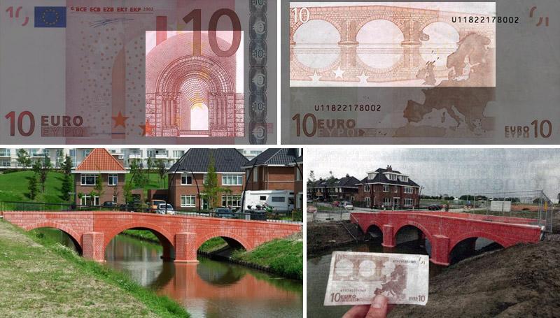 Architettura Romanica nelle banconote da 10 euro