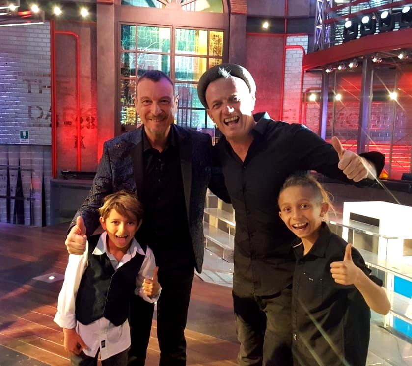 Mister David con Amadeus-con-i-figli-Manuel-e-Denny