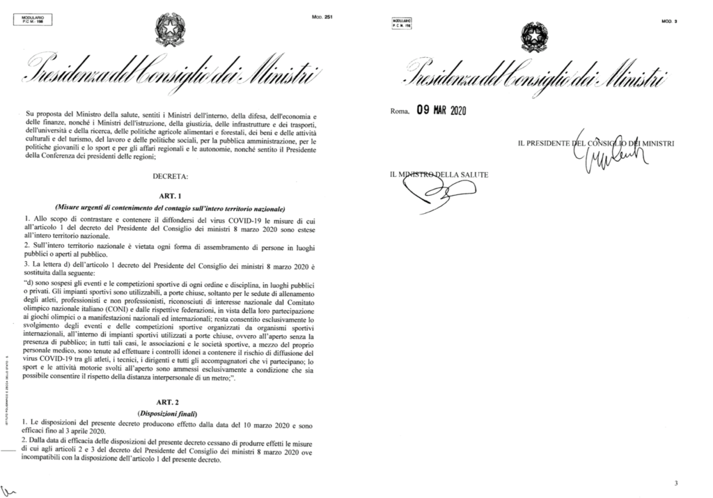 Decreto #iorestoacasa cosa è vietato? cosa posso fare? ila foto del decreto del 9 marzo