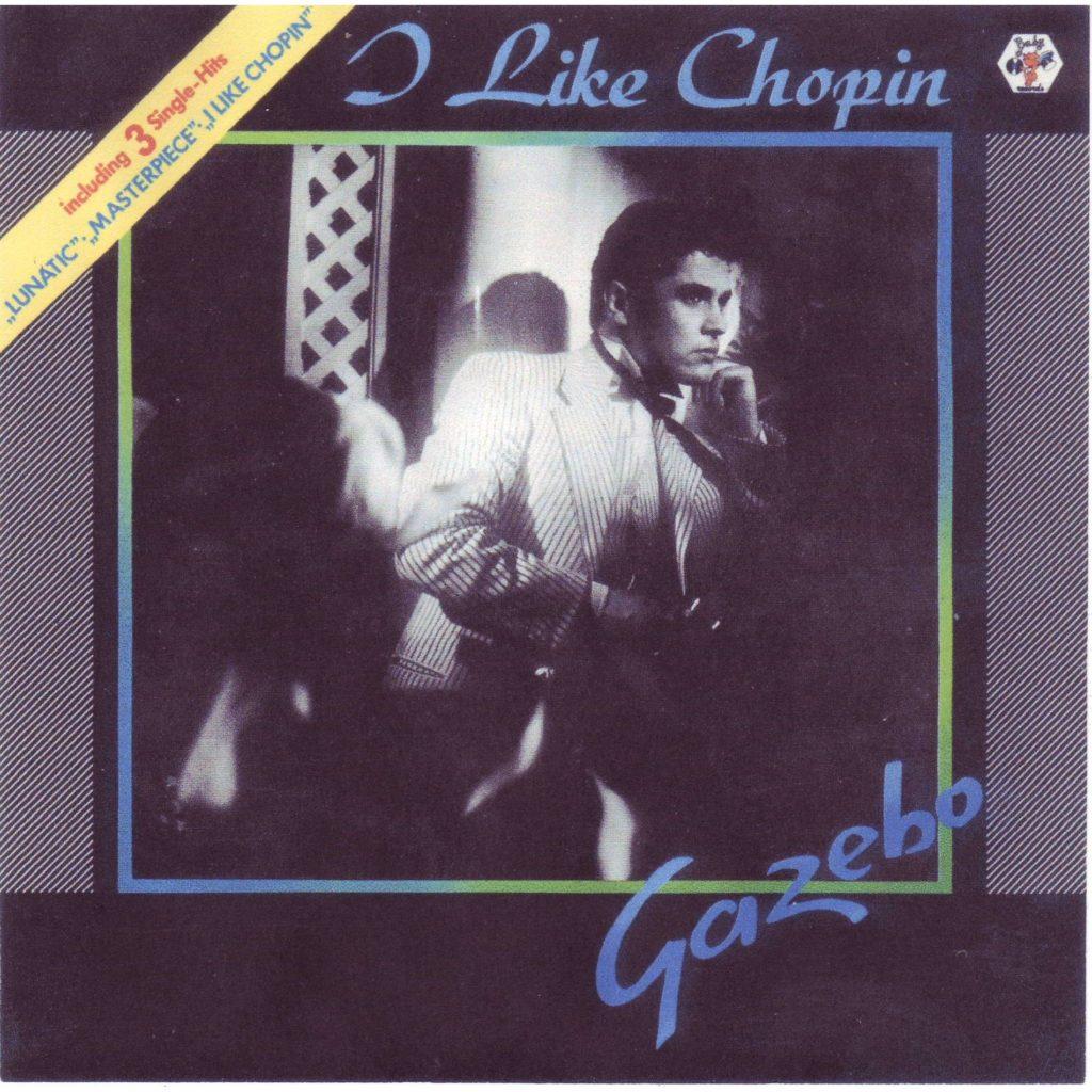Gazebo - I like Chopin. Nella foto la copertina del 45 giri del 1983. che ritrae il cantante, vestito di bianco
