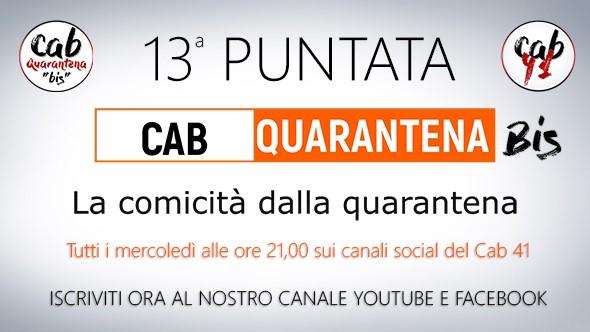 Cab Quarantena Bis la locandina