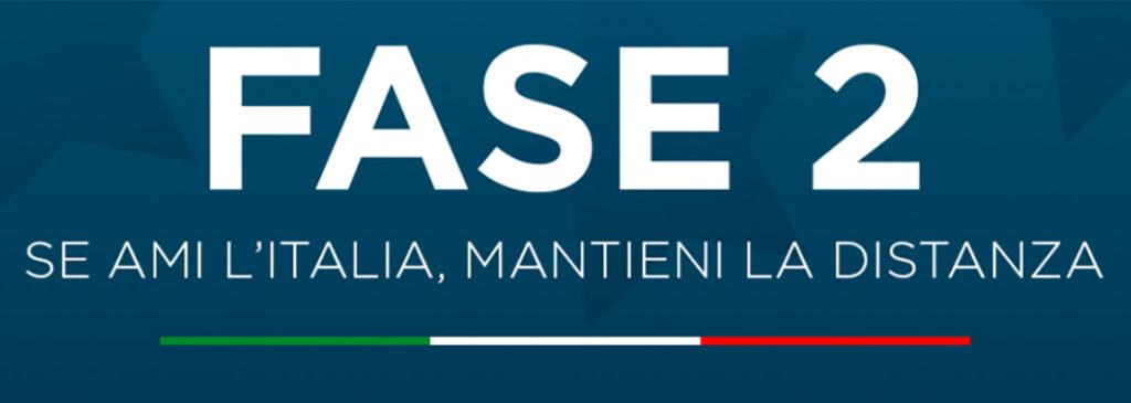 """#sanremo1956 #sanremo1997 - il logo della fasee due su sfondo blu e la scritta """"se ami l'Italia mantieni la distanza"""