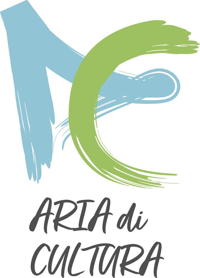 """""""Aria di Cultura"""",  nella foto il logo di ate e culturacon una a e una c fatte con un pennello"""