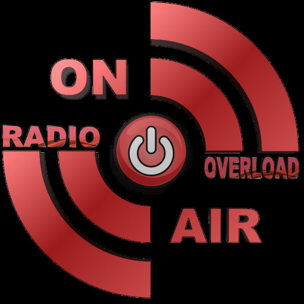 radio overload television. il logo della radio, disegnato a cerchio e colorato a strisce rosse
