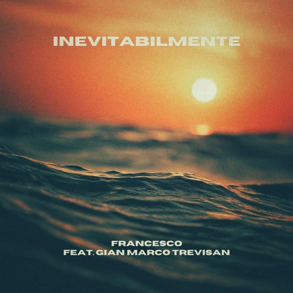 inevitabilmente by francesco. la copertina del singolo, che ritrae delle onde del mare al tramonto