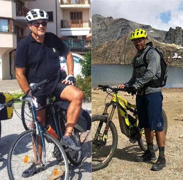 Trip to Trieste - i due imprenditori vestiti da ciclisti con le loro bici