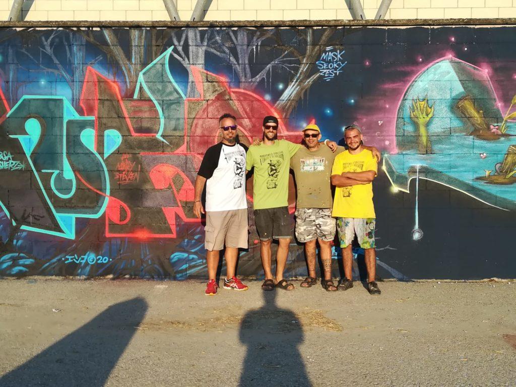Manufactory project - quattro artisti che hanno disegnato le pareti dello stadio di comacchio