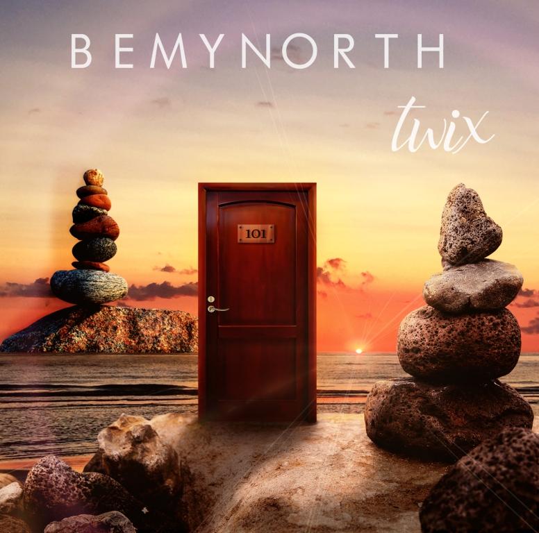 twix bemynorth - la copertina del singolo che inquadra una porta di legno su uno scoglio, circondata da sculture di pietra