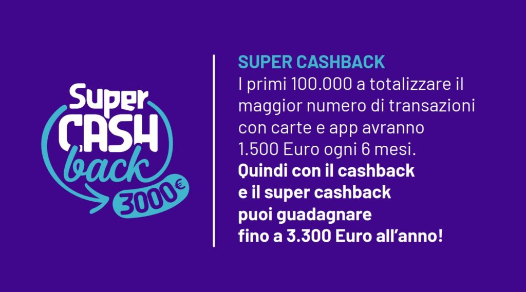 Cashback . l'offerta supercash