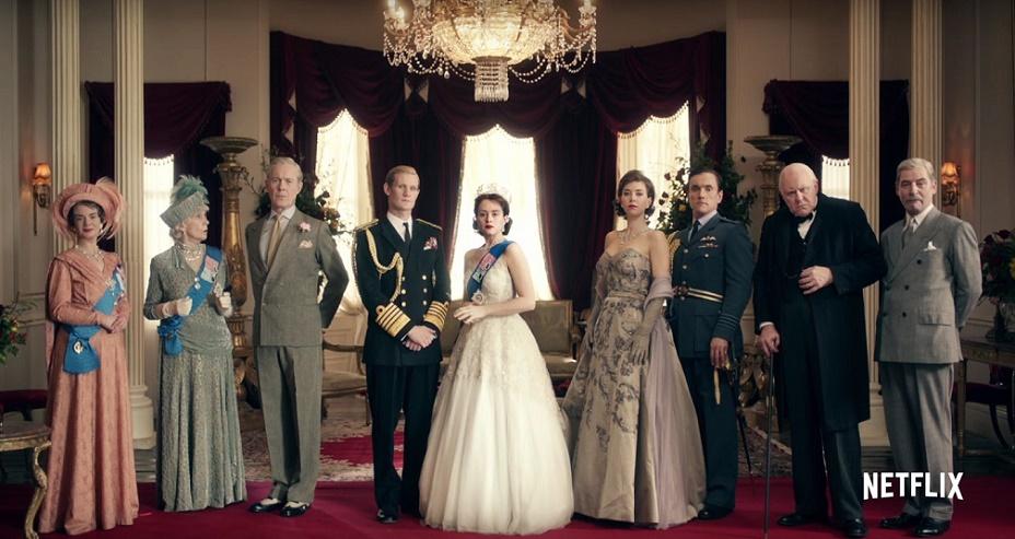 Serie tv netflix The Crown la foto di tutta la famiglia reale