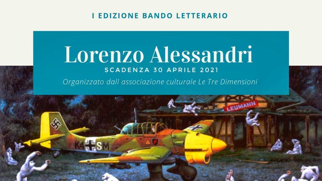 iscrizioni aperte al bando letterario Lorenzo  Alessandri scadenza 30 aprile e sotto la scritta un aereo giallo e arancione con delle scimmie bianche intorno