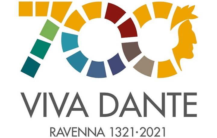 Sommo Poeta Dante il logo del centenario 700 viva Dante