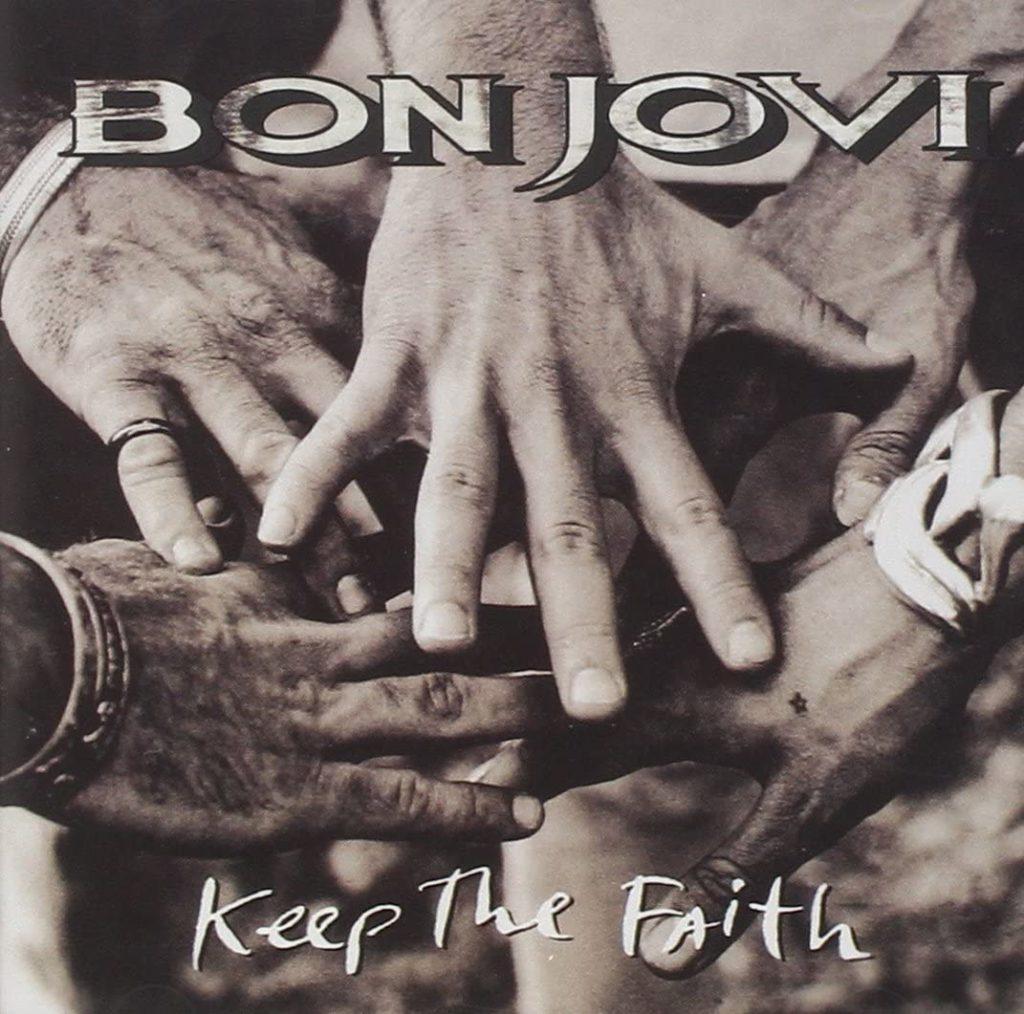 bon jovi - la copertina dell'album keep the faith