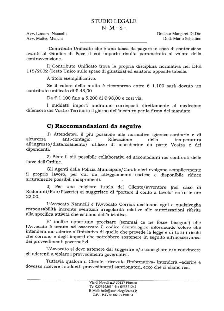 informativa stilata dagli avvocati dell'organizzazione - pag 4