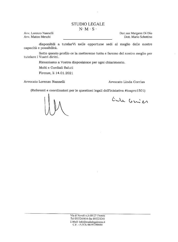 inoformativa stilata dagli avvocati dell'organizzazione - pag 5