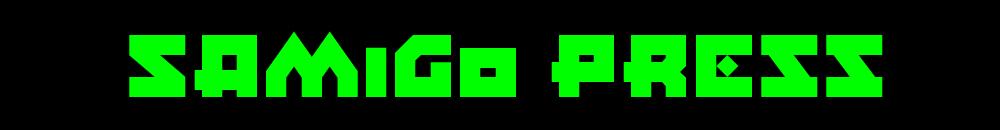 Samigo Press il logo verde su sfondo nero