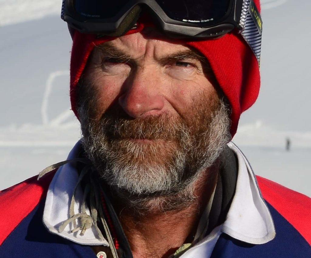 Simon Beck sulla neve