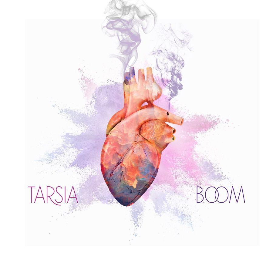 tarsia boom - la copertina del singolo che raffigura un cuore disegnato su sfondo bianco