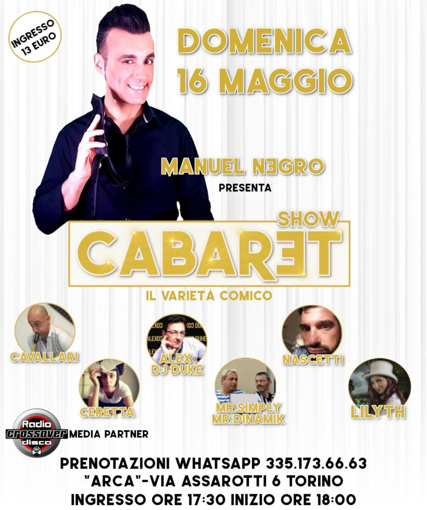 CabaretShow - la locandina con le foto dei comici dello staff e le info appuntamento