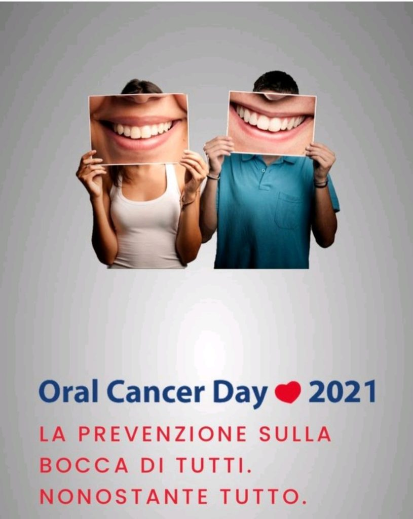 Oral Cancer Day: prevenire tramite autoanalisi del cavo orale. Locandina ANDI