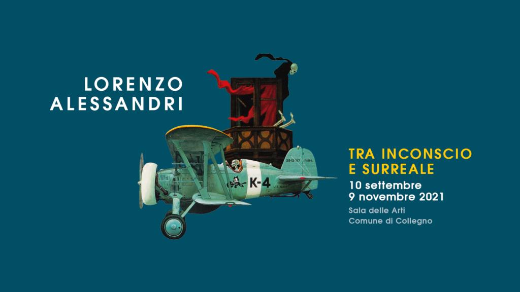 """""""Lorenzo Alessandri tra inconscio e surreale"""", a Collegno dal 10 settembre."""