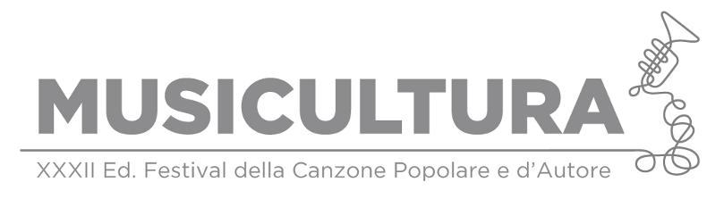 Musicultura - il logo scritto in grigio