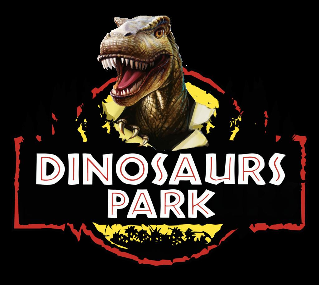 T-rex - la locandina con il logo in stile jurassic park