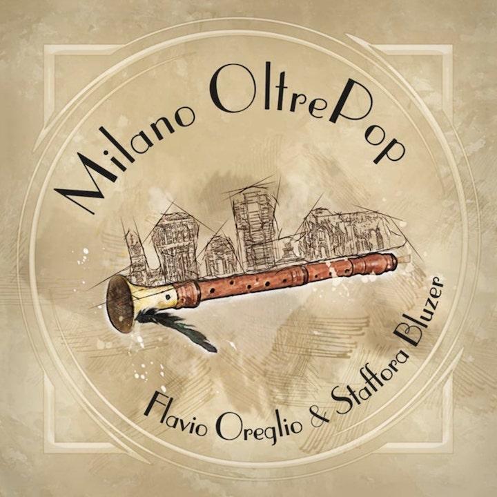 milano oltrepop - la copertina, raffigurante un flauto dolce, del disco di flavio oreglio