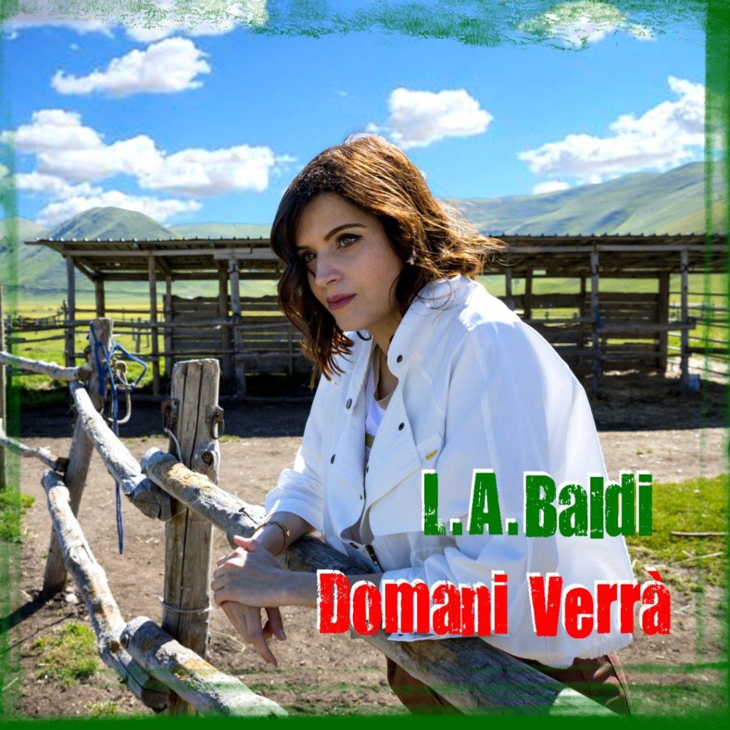 l.a.baldi - la copertina del singolo, che ritrae la cantante,  appoggiata ad una staccionata