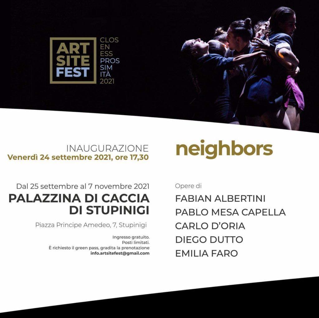 Art Site 2021, Closeness/prossimità tra Piemonte e Val d'Aosta. Locandina