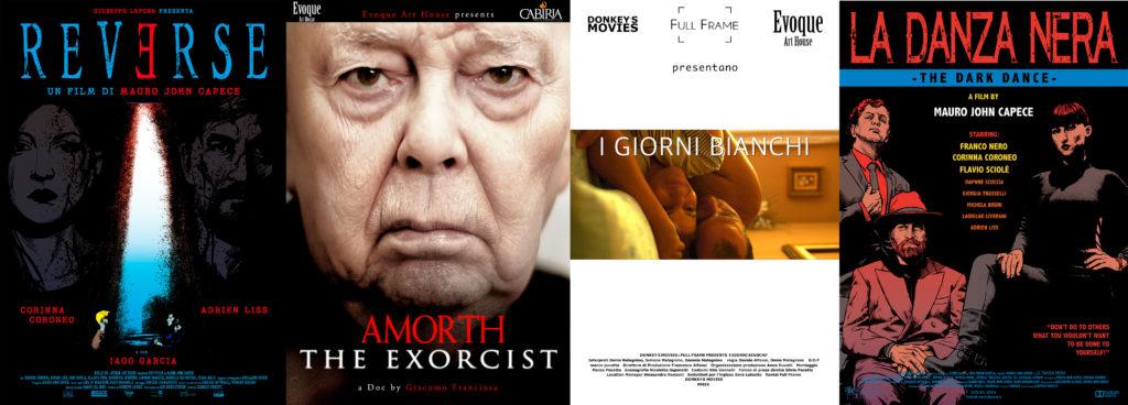 biennale venezia - 4 locandine dei film in proiezione