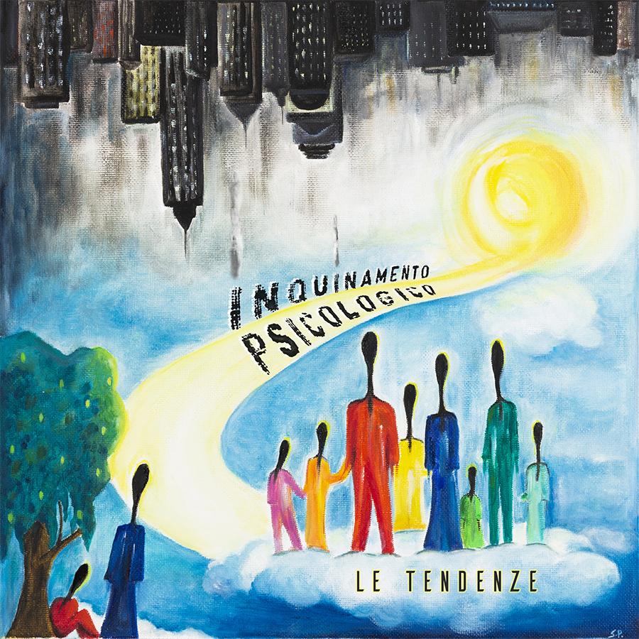 bukowski (nel dubbio bevo9 - la copertina dell'album intitolato inquinamento psicologico, opera della pittrice stella portalupi