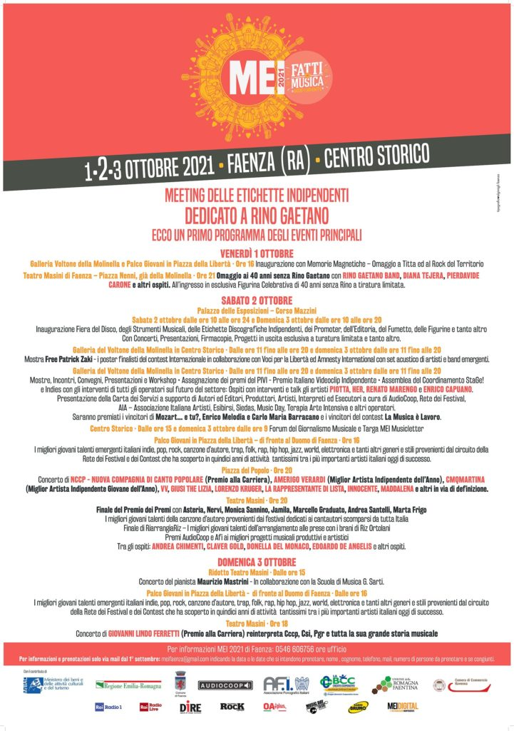 il programma dell'evento