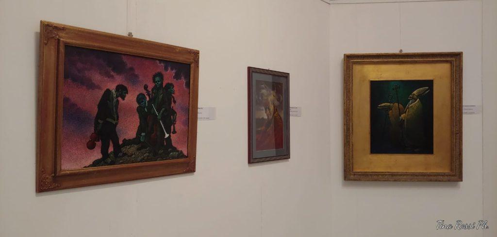 dei quadri  esposti in mostra