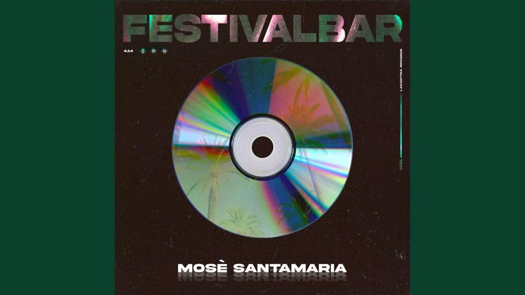 festivalbar - la copertina del singolo che raffigura un cd su sfondo nero